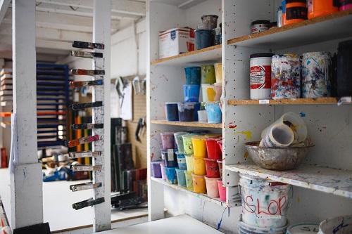 disposing acrylic paint
