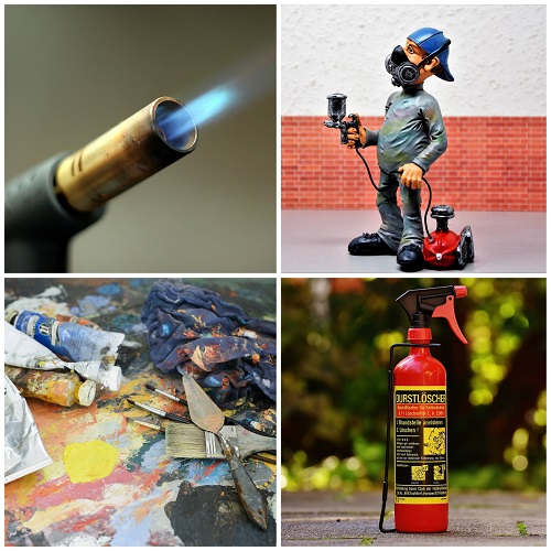 acrylic paint flammable 1
