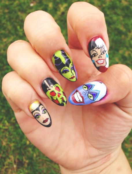 Acrylic paint on nails